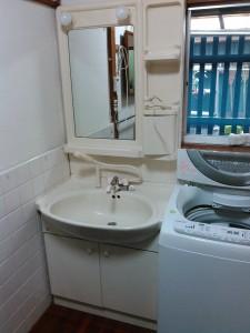 洗面トラブル修理(作業前)