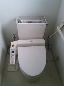 神戸市トイレ水漏れ(交換前)